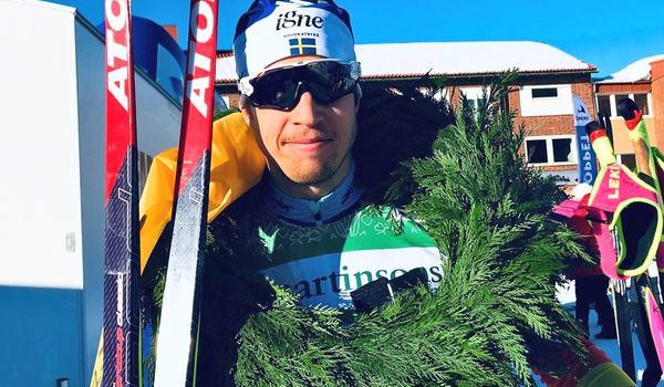 Klas Nilsson vann 7-mila precis som förra året. Bilden är från i fjolårets seger. FOTO: 7-mila.