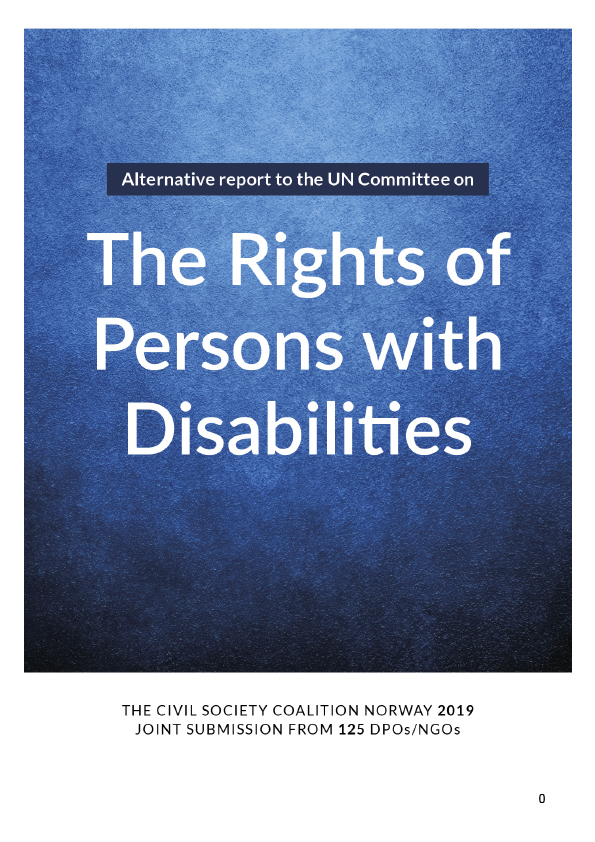 Omslagsbilde til rapporten The Rights of Persons with Disabilities
