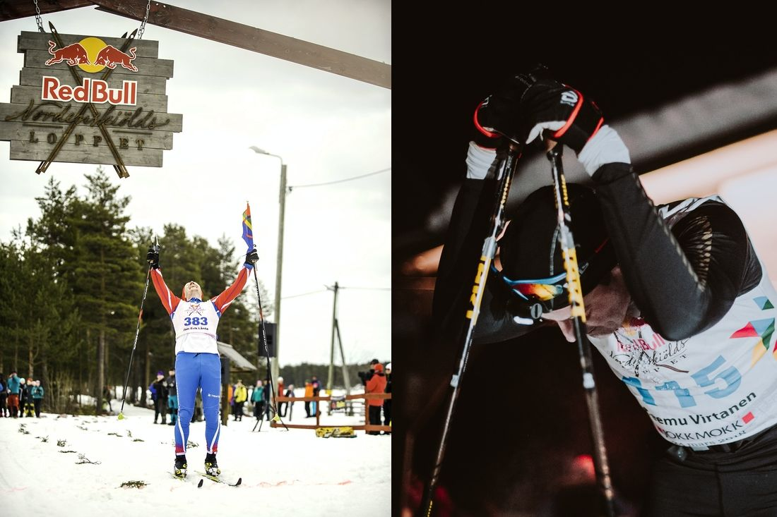 Jan Erik Länta, Jokkmokk och Teemu Virtanen kommer att åka Sälen-Mora tur och retur. FOTO: Adam Klingeteg, Red Bull Content Pool.