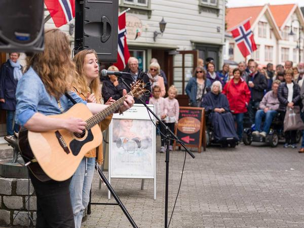 Gatemusikanter i Egersund