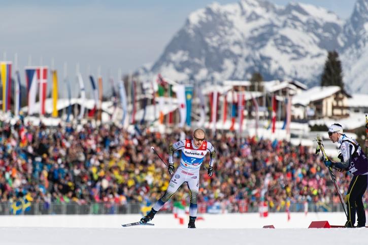 Viktor Thorn imponerade med att dela förstaplatsen med Sergey Ustiugov på sprintprologen. FOTO: Joel Marklund/Bildbyrån.