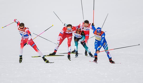 Johannes Hösflot Kläbo var vassast över upploppet och tog sitt första VM-guld. FOTO: Joel Marklund/Bildbyrån.