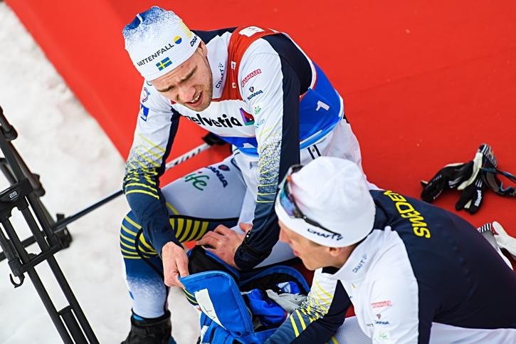Viktor Thorn och Calle Halfvarsson begrundar sina öden efter kvartsfinalerna. FOTO: Joel Marklund/Bildbyrån.