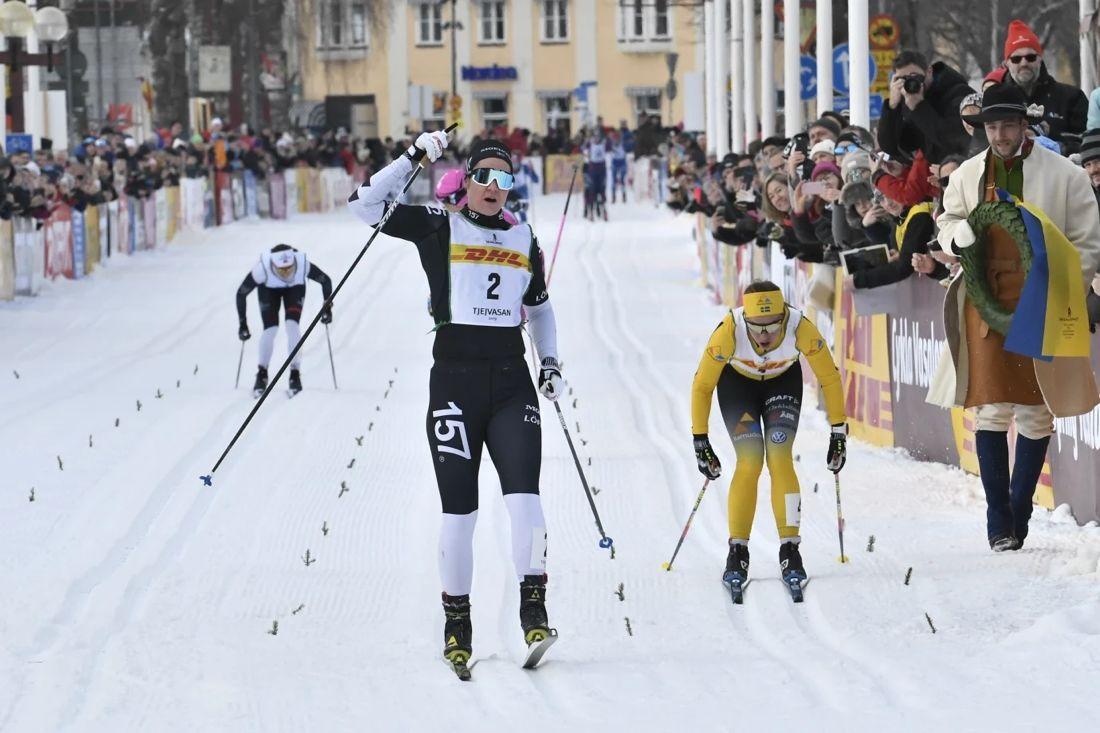 Britta Johansson Norgren tog hem Tjejvasan närmast före Lina Korsgren. FOTO: Vasaloppet/Ulf Palm.