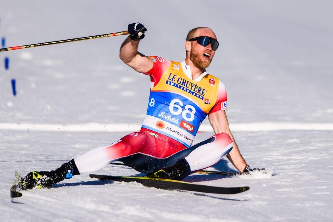 Martin Johnsrud Sundby åkte med guldstavar i sitt första individuella guldlopp. FOTO: Johanna Lundberg/Bildbyrån.