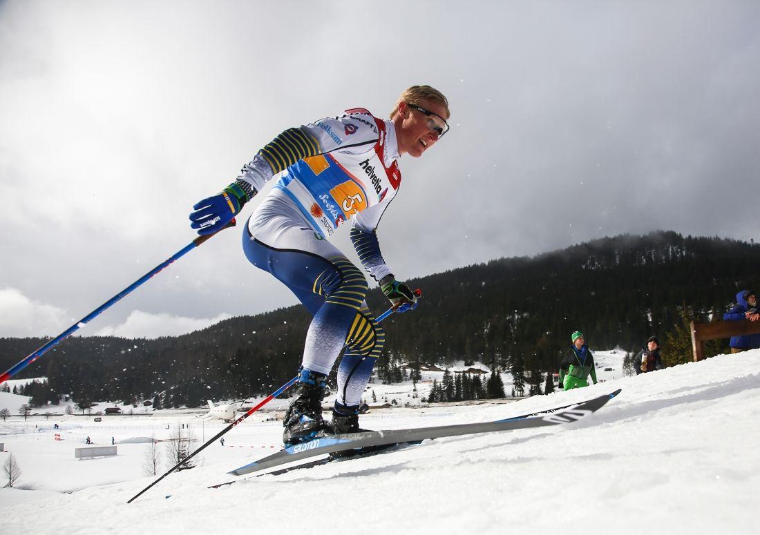 Jens Burman är ett svenskhopp inför VM-femmilen i Seefeld. FOTO: GEPA pictures/CH Kelemen/Bildbyrån.