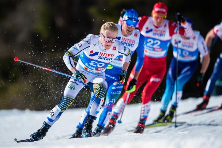 Jens Burman har varit stabil och jämn på VM i Seefeld med två tiondeplatsen och en elfteplats. FOTO: Johanna Lundberg/Bildbyrån.