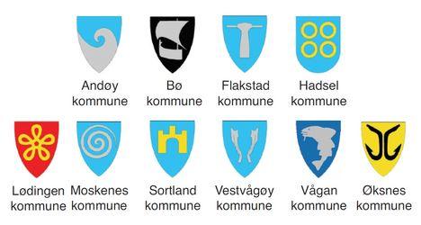 Kommunevåpen, Lofoten og Vesterålen