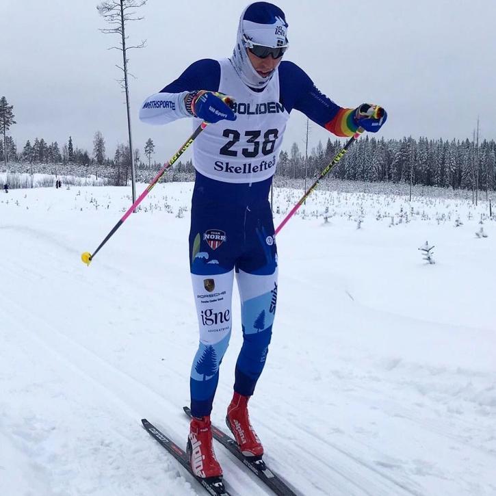 Klas Nilsson har gjort fina insatser i vinter med bland annat en elfteplats på Marcialonga. FOTO: Jörgen Lindmark.