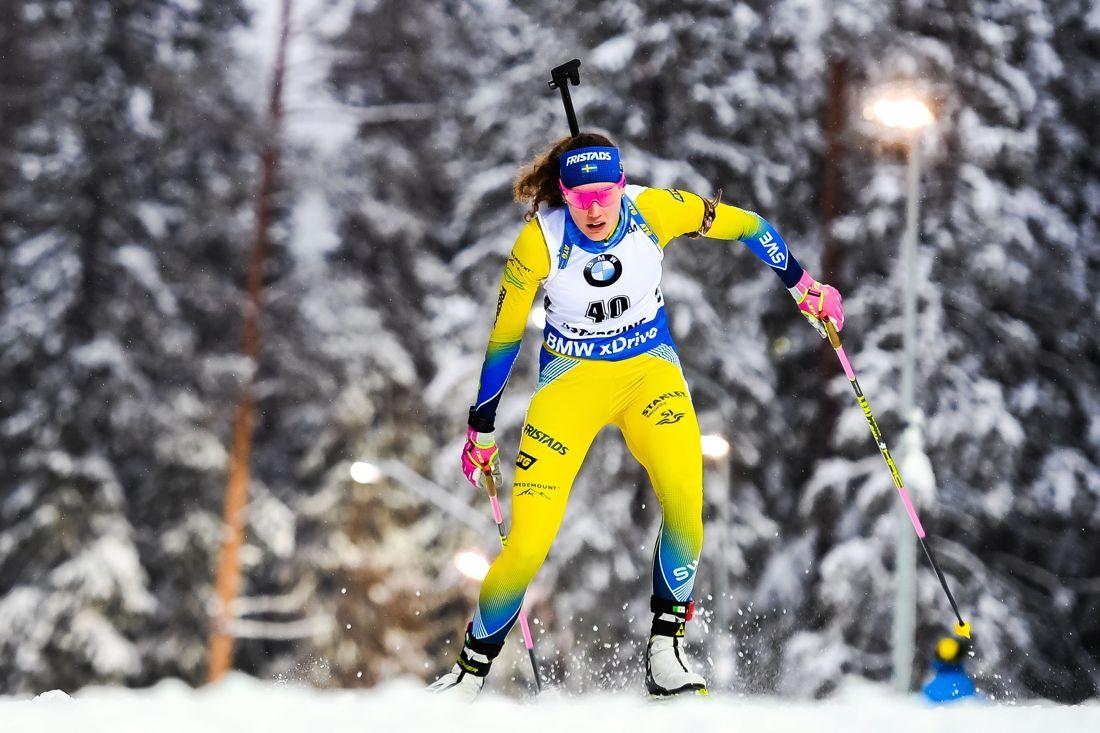 Hanna Öberg var bara sex tiondelar från bronset på VM-sprinten i Östersund. FOTO: Petter Arvidson/Bildbyrån.