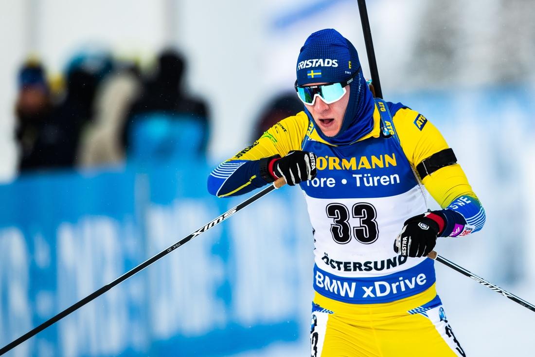 Tre bommar i stående förstörde för Sebastian Samuelsson under VM-sprinten. FOTO: Johan Axelsson/Bildbyrån.