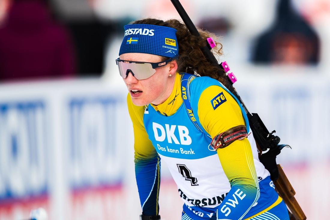 Hanna Öberg åkte i mål som femma. FOTO: Johan Axelsson/Bildbyrån.