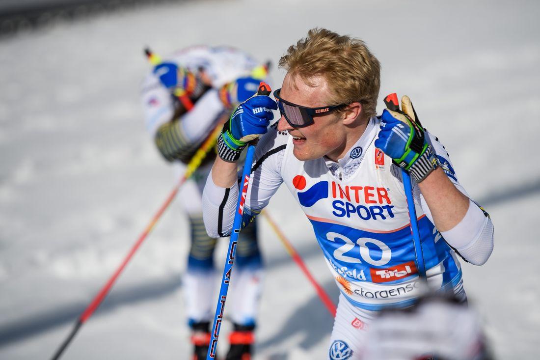 Jens Burman har visat fin form på VM och i Holmenkollen. På söndag åker Jens 15 kilometer skejt vid världscupen i Falun. FOTO: Joel Marklund/Bildbyrån.