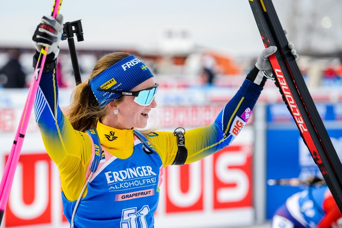 Mona Brorsson åkte fort och sköt en bom. Det gav en fin sjätteplats. FOTO: Petter Arvidson/Bildbyrån.