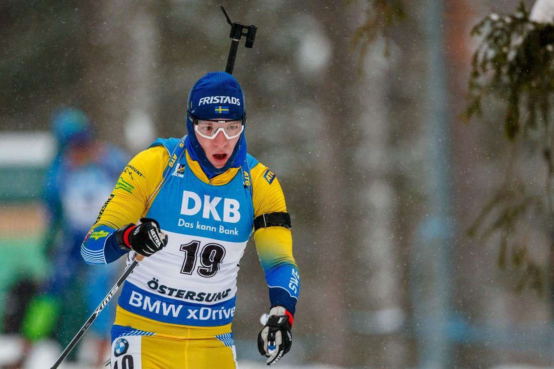 Sebastian Samuelsson blev fyra på distansloppet vid VM i Östersund. Samma placering som han fick på OS i fjol. FOTO: Johan Axelsson/Bildbyrån.