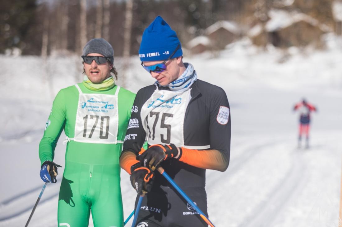 Simon Andersson, till höger, var snabbast i premiären och kommer till start igen. Emil Johansson, till vänster, hade tredje tid i fjol. FOTO: AdaMedia Med Mera.