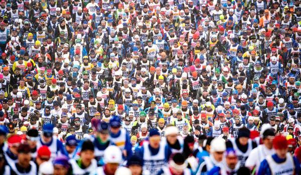 62 360 var anmälda till Vasaloppets vintervecka 2019. På söndag öppnar anmälan till 2020. FOTO: Vasaloppet.