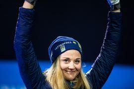 Efter succécomebacken på VM väntar nu världscupen i Falun för Stina Nilsson. En spännande kamp mot Marken Caspersen Falla om segern i sprintvärldscupen står på spel. FOTO: Joel Marklund/Bildbyrån.