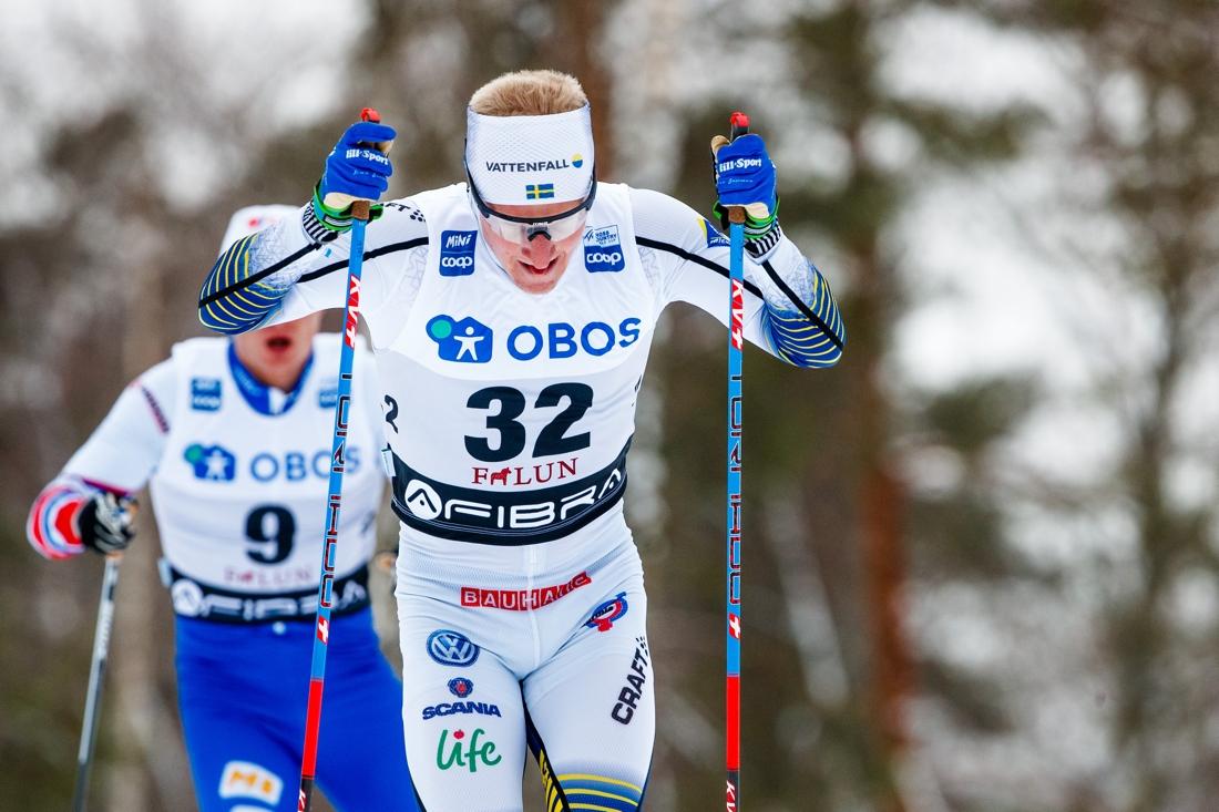 Jens Burman åkte snabbast av svenskarna och blev 13:e man. FOTO: Daniel Eriksson/Bildbyrån.