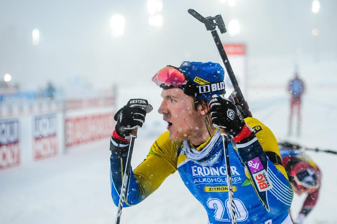 Sebastian Samuelsson hade det tungt i masstarten men han gjort många bra insatser under VM i Östersund. FOTO: Petter Arvidson/Bildbyrån.