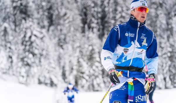 Niklas vann Skatamarksloppet utanför Boden på söndagen efter en spurt mot finländaren Viktor Mäenpää. FOTO: Magnus Östh, Visma Ski Classics.