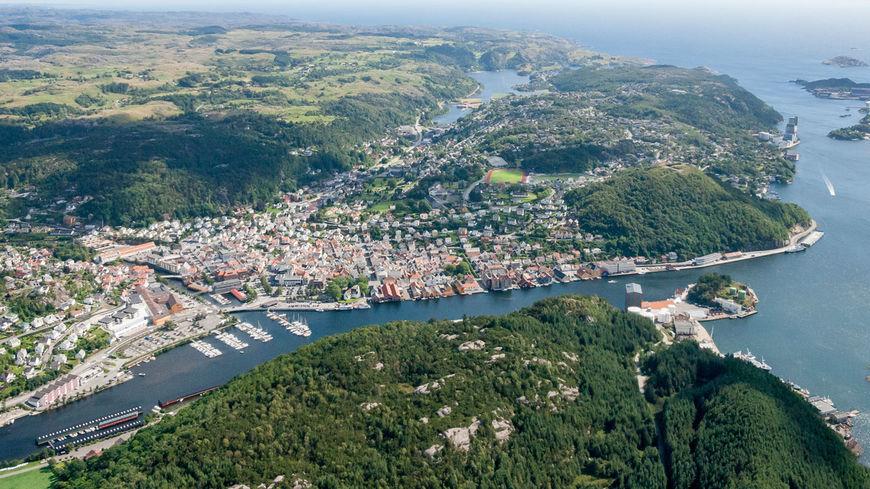 Flyfoto over Egersund