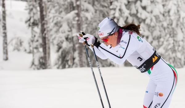 Sofia Henriksson vann 10 kilometer klassiskt vid Volkswagen cup i Kalix på lördagen. FOTO: Simon Hastegård/Bildbyrån.