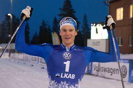 Marcus Grate vann sprinten i Gällivare på torsdagskvällen. FOTO: Volkswagen Tour.