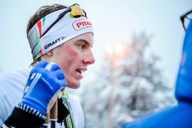 Johan Häggström vanns SM-femmilen 5,4 sekunder före Simon Lageson. FOTO: Simon Hastegård/Bildbyrån.