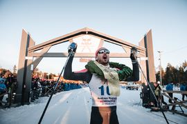 Andreas Nygaard tog tredje raka segern i Nordenskiöldsloppet. FOTO: Adam Klingeteg/Red Bull Content Pool.