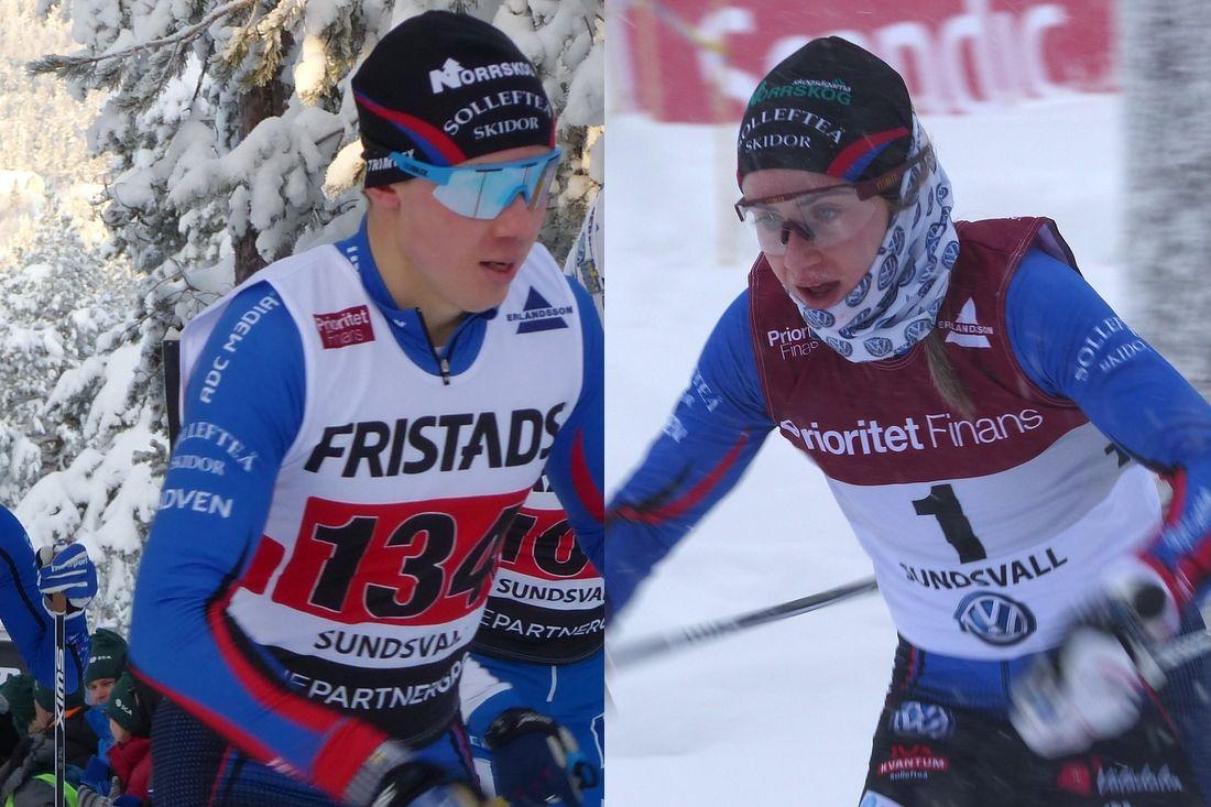 Fredrik och Ebba Andersson byter från Sollefteå Skidor till Piteå Elit.. FOTO: Längd.se.