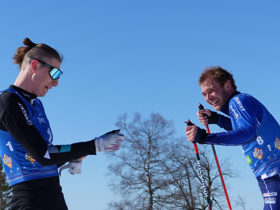 Pontus Nordström och Axel Bergsten i eftersnack. FOTO: Johan Trygg/Längd.se.