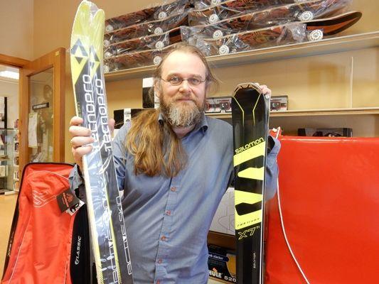 Ole Anders Seines med ski