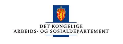 Logoen til Arbeids- og sosialdepartementet