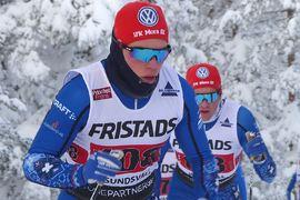 Eric Rosjö vann Grönklittsjakten närmast före Jimmie Johnsson. Bilden dock från SM-stafetten i Sundsvall. FOTO: Johan Trygg/Längd.se.