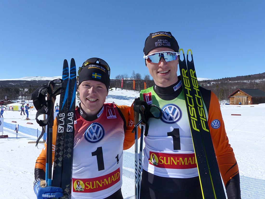 Guldduon Hugo Jacobsson och Oskar Svensson. FOTO: Johan Trygg/Längd.se.