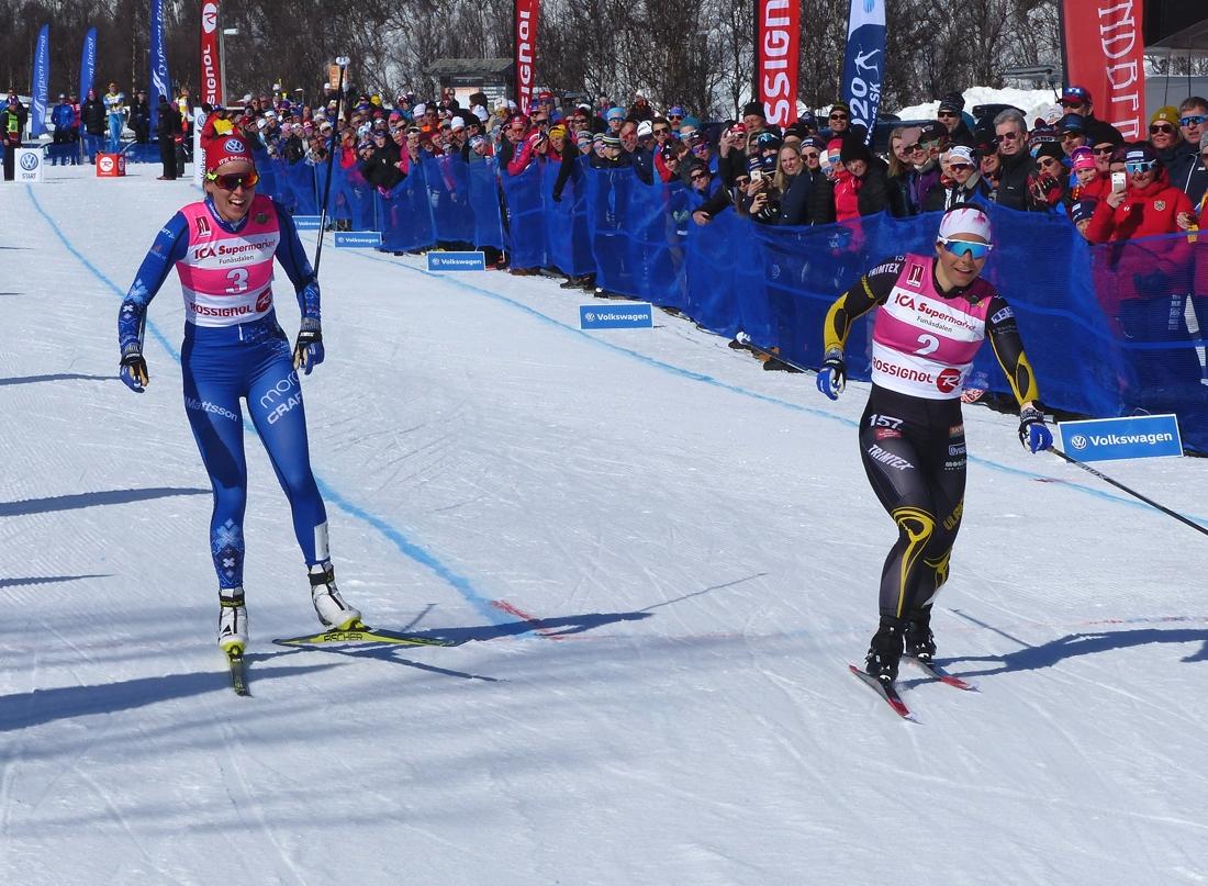 Johanna Hagström slog ut Anna Dyvik i semifinalen. FOTO: Johan Trygg/Längd.se.