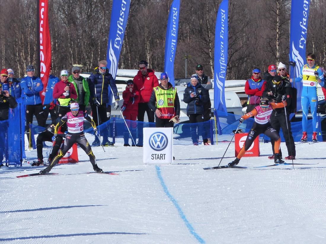 Finalstarten mellan Johanna Hagström och Maja Dahlqvist. FOTO: Johan Trygg/Längd.se.