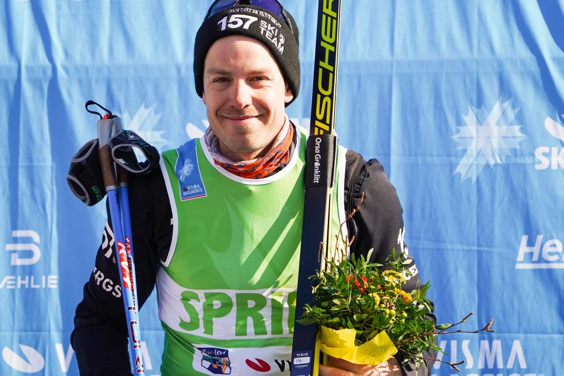Anton Karlsson tog hem den gröna västen. FOTO: Magnus Östh.