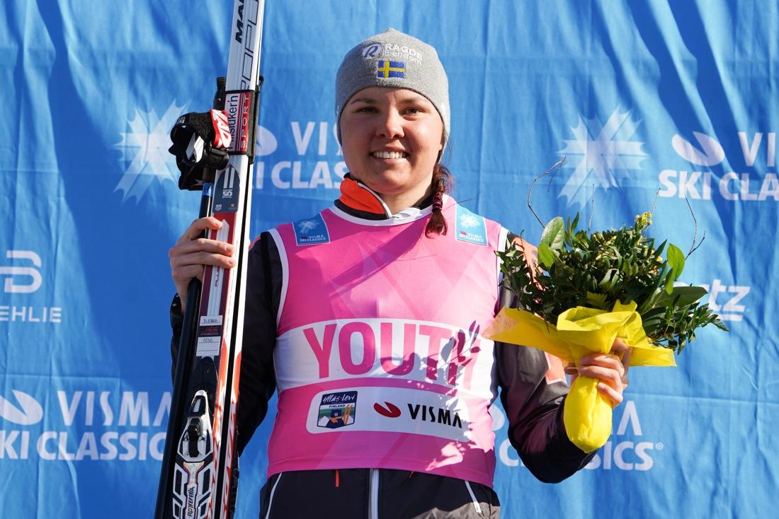 Sofie Elebro vann den rosa ungdomsvästen. FOTO: Magnus Östh.