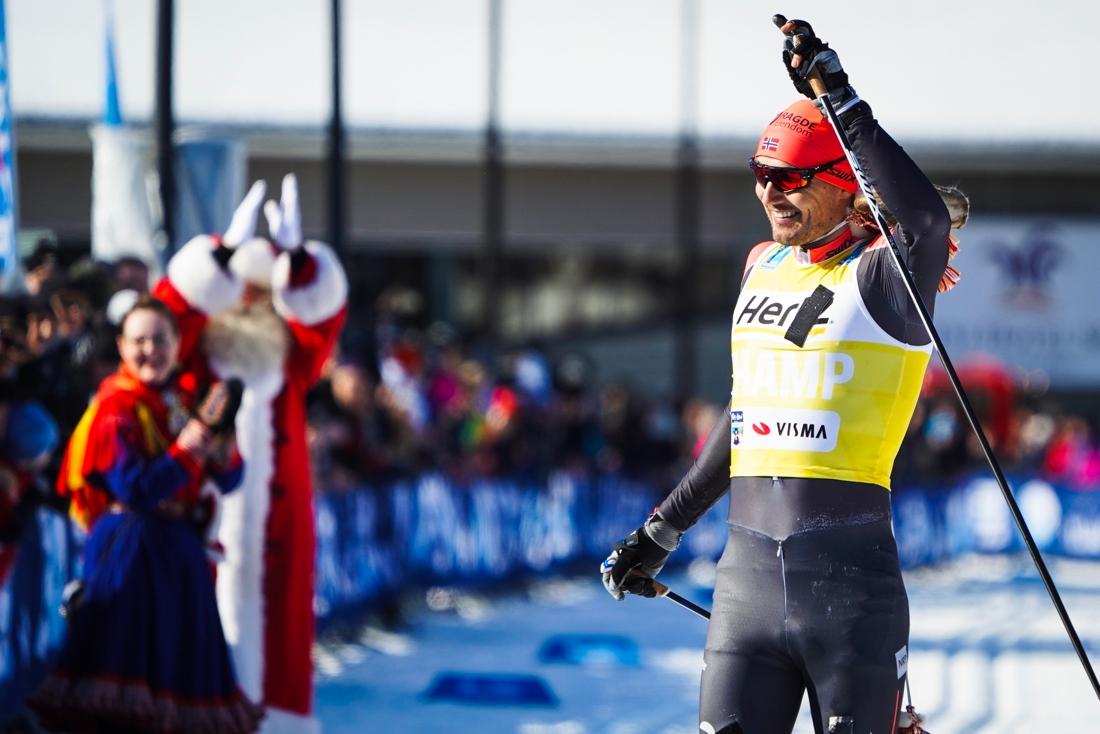 Andreas Nygaard tog en snygg soloseger i Ski Classics-finalen i Finland. FOTO: Magnus Östh.