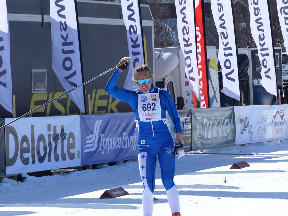 Linn Svahn tog hem seger i D 19.20. FOTO: Johan Trygg/Längd.se.