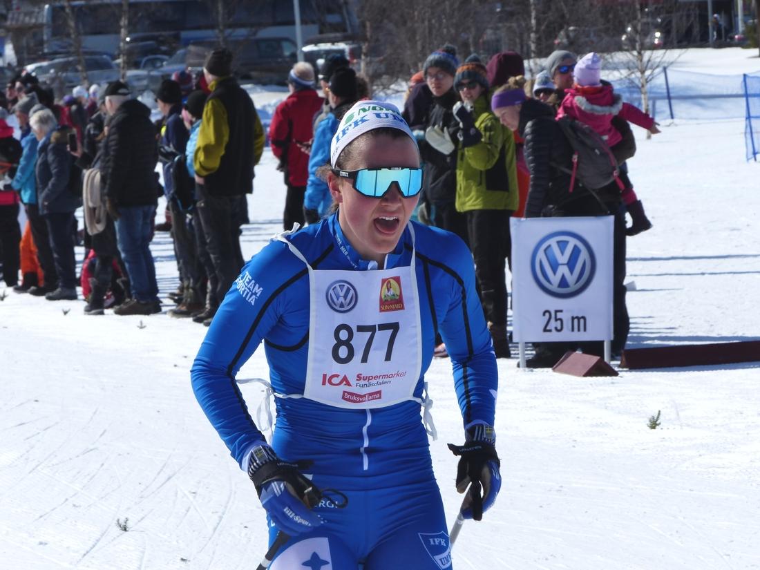 Moa Lundgren åkte in som tvåa. FOTO: Johan Trygg/Längd.se.