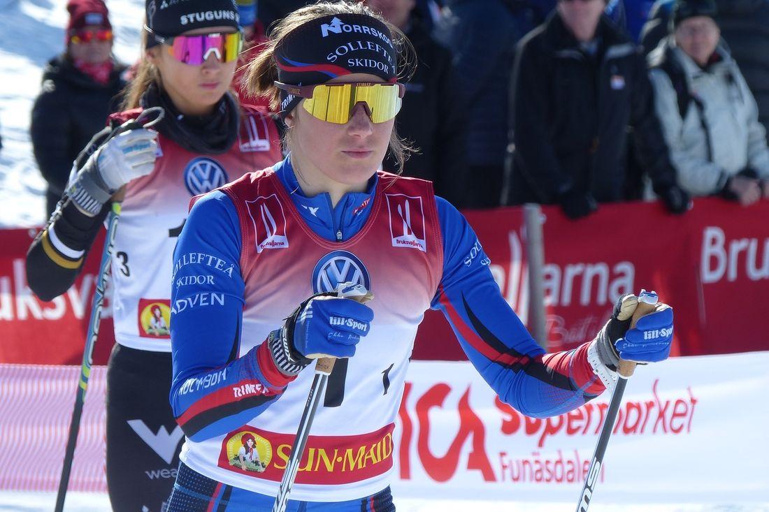 Ebba Andersson vann Janteloppet i norska Hafjell i stor stil före klubbkompisen Frida Karlsson. FOTO: Johan Trygg/Längd.se.