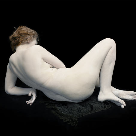 Copyright: © Nadav Kander, Audrey with toes and wrist bent, 2011. Courtesy of Flowers Gallery