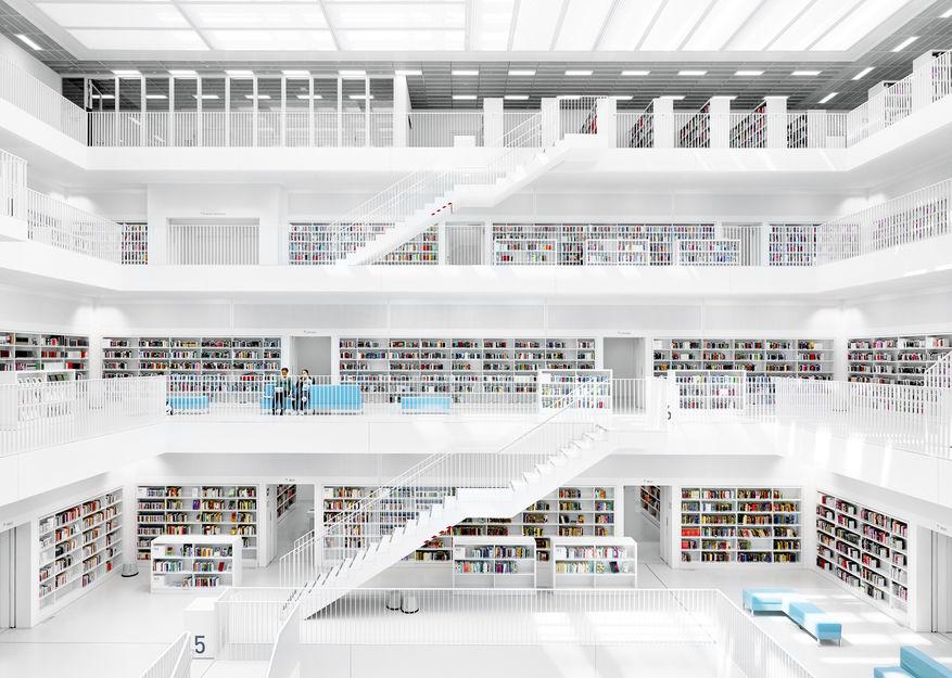Kristoffer Wittrups bilde av Stadtbibliothek, Stuttgart, Tyskland. ©Kristoffer Wittrup.