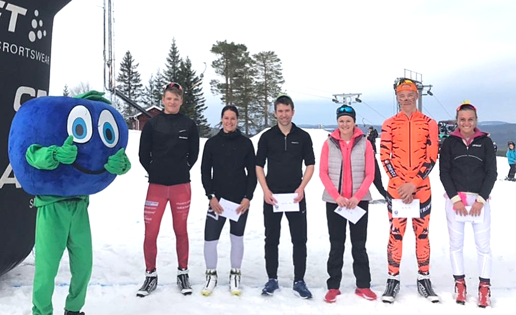 Topp tre med fr. v. Jonathan Engström, Britta Johansson Norgren, Stefan Sunnerberg, Helene Söderlund, Emil Danielsson och Ida Palmberg. FOTO: Marcus Laggar.