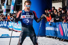 Öyvind Moen Fjeld, här i mål som trea på Visma Ski Classics-finalen Ylläs-Levi, lämnar Team Ragde Eiendom för Lager 157 Ski Team inför nästa vinter. FOTO: Visma Ski Classics.