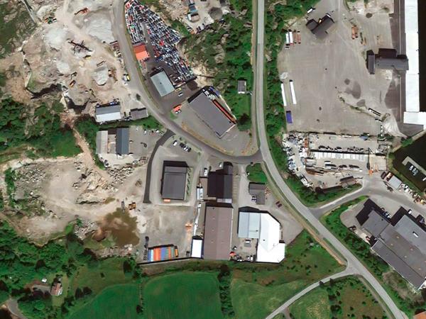 Satelittbilde over Hovland