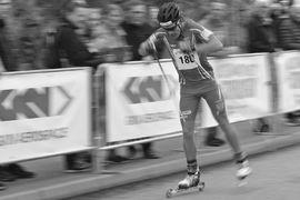 Under måndag och tisdag är det SM på rullskidor i Malmö. Tävlingarna sänds i SVT. FOTO: Johan Trygg/Längd.se.